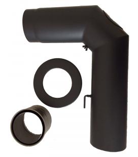 tubes de raccordement po le bois noir mat po les. Black Bedroom Furniture Sets. Home Design Ideas